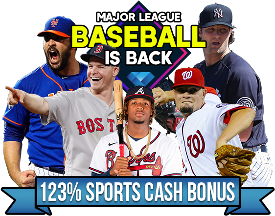 MLB is Back - 123% Cash Bonus