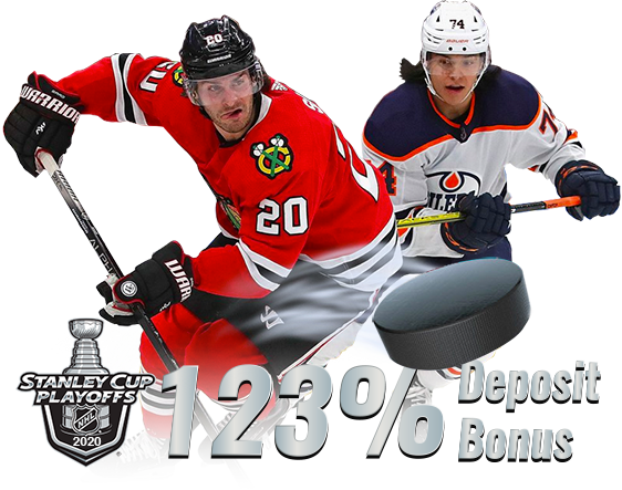 NHL is Back - 123% Cash Bonus